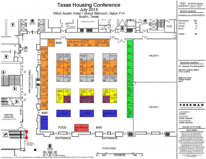 2015 Texas Housing Conference Exhibit Floorplan